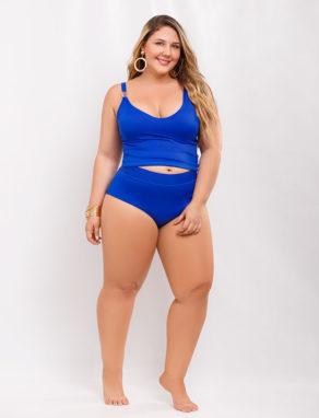 Tankini Klein Blue trajes de baño para mujeres con curvas - curvy